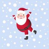 Santa Claus Vector Illustration für Weihnachtskarte Lizenzfreie Stockfotos