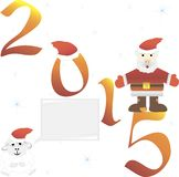 Santa Claus. 2015. Vector illustration. Santa Claus. 2015. Funny cartoon character. Vector illustration. Isolated on white background. Set Stock Illustration