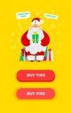 Santa Claus vector illustration. vector illustration