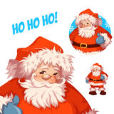 Santa Claus vector illustration. Merry Christmas. And happy New Year Stock Images