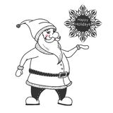 Santa Claus. Vector illustrations in sketch style.  royalty free illustration