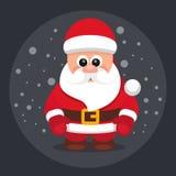 Santa Claus Vector Image Black Foto de archivo libre de regalías