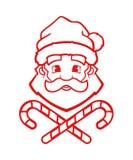 Santa Claus vektoröversikt royaltyfri illustrationer
