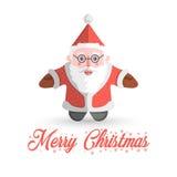 Santa Claus-Vektor auf weißem Hintergrund Stockfotos