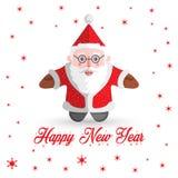 Santa Claus vektor med snöflingor Royaltyfri Foto