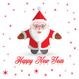 Santa Claus-Vektor mit Schneeflocken Lizenzfreies Stockfoto