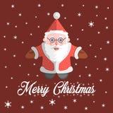 Santa Claus-Vektor mit Text frohen Weihnachten Lizenzfreie Stockfotos