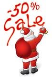 Santa Claus, vendita - 50 Fotografie Stock Libere da Diritti