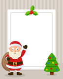 Santa Claus Vertical Photo Frame Royalty Free Stock Images