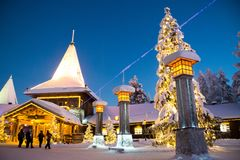 Santa Claus Village Imagem de Stock Royalty Free