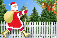 Santa Claus in village Stock Photo
