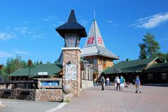 Santa Claus Village Arctic Circle Rovaniemi Finlan Stock Photo