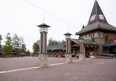 Santa Claus Village, Arctic Circle. Rovaniemi, Finland - 24 June 2015: Santa Claus Village, Arctic Circle stock photos