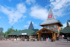 Santa Claus Village Arctic Cirkle Rovaniemi Lappland Finnland Stockfotografie