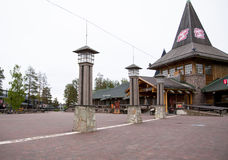 Santa Claus Village, nördlicher Polarkreis Stockfotos