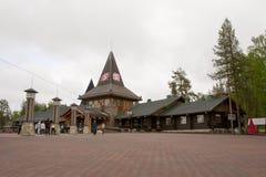 Santa Claus Village norra polcirkeln Royaltyfria Bilder