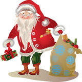 Santa Claus,  vintage  cartoon character Stock Photos