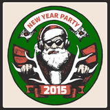 Santa Claus vintage poster. Vector Royalty Free Stock Image