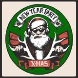 Santa Claus vintage poster. Vector Stock Photography