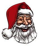 Santa Claus Vintage Woodcut Style Imagen de archivo