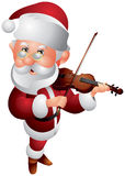 Santa Claus Violin Player Stock Images