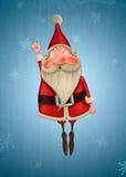 Santa Claus vole Photos libres de droits