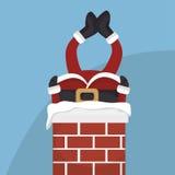santa Claus w komin odizolowywającym ikona projekcie Zdjęcia Royalty Free