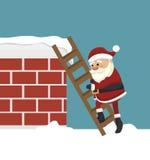 santa Claus w komin odizolowywającym ikona projekcie Obraz Royalty Free