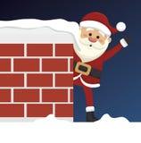 santa Claus w komin odizolowywającym ikona projekcie Zdjęcia Stock