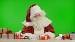 Santa Claus is Waiting and is Bored stock video footage