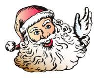 Santa Claus waiving hello Royalty Free Stock Image