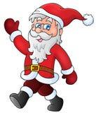 Santa Claus walk theme 1 Royalty Free Stock Images