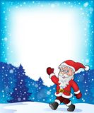 Santa Claus walk theme 3 Royalty Free Stock Photography