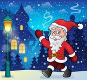 Santa Claus walk theme 6 Royalty Free Stock Photos