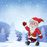 Santa Claus walk theme 7 Stock Images