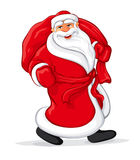 Santa Claus walking Stock Photo
