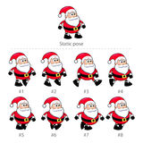 Santa Claus walking frames. Royalty Free Stock Photography