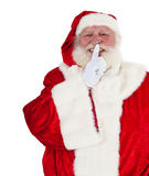 Santa Claus wants you to keep a secret Royalty Free Stock Image