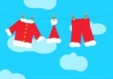 Santa claus washing Royalty Free Stock Photo