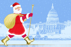 Santa Claus in Washington Stock Image