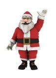 Santa Claus Waving hand över vit Arkivfoto