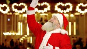 Santa Claus Waving Hand ilustración del vector