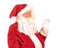 Santa Claus Waving Hand fotografie stock libere da diritti