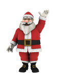 Santa Claus Waving hand over white stock photo