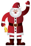Santa Claus Waving and Ringing Bell Illustration Royalty Free Stock Photography