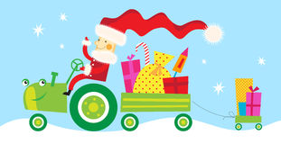 Santa claus on the way to you Royalty Free Stock Photo