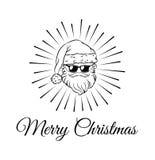 Santa Claus weared schwarze Sonnenbrille Vektor Stockfotos