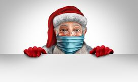 Free Santa Claus Wearing A Mask Banner Royalty Free Stock Photo - 198091975