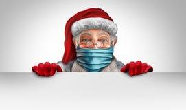 Santa Claus Wearing A Mask Banner