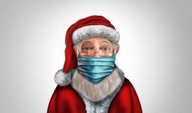 Santa Claus Wearing A Mask